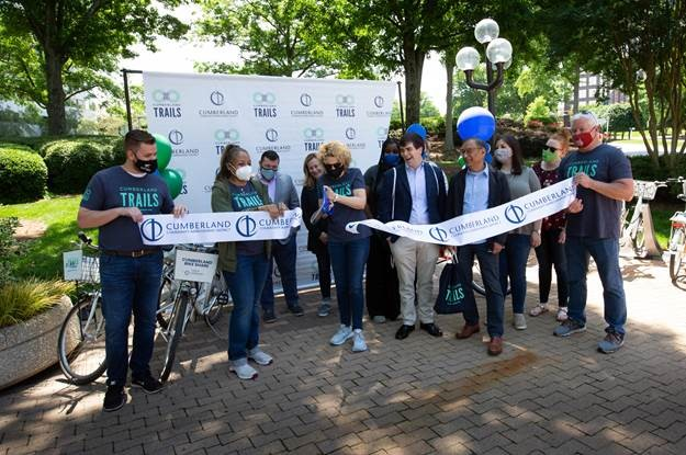 Cumberland CID Launches New Bike Station at Galleria Gardens